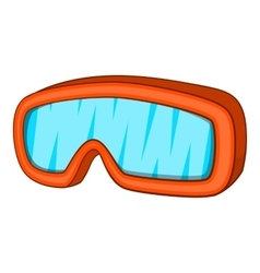 Ski sport goggles icon cartoon style vector
