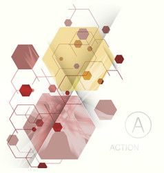 abstract hexagon background technology vector image