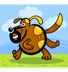 cartoon running dog or puppy vector image
