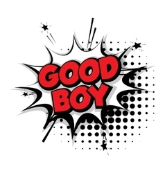 Comic text good boy sound effects pop art vector image