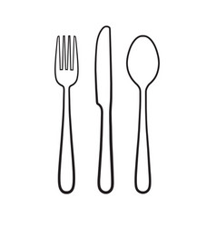 fork spoon knife icon sign symbol vector image vector image