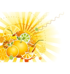 Fruits background vector