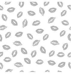 gray lips pattern vector image