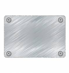 metal plaque vector image
