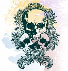 money skull illustration vector image