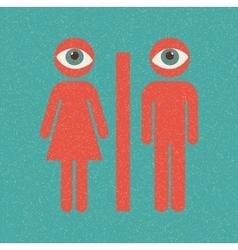 Restroom retro poster vector image vector image