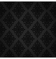 Seamless damask wallpaper vector image vector image