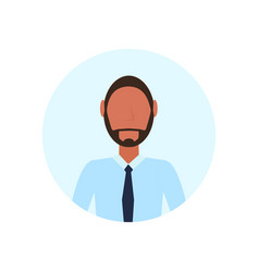 african american man avatar isolated faceless vector image