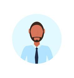 African american man avatar isolated faceless vector