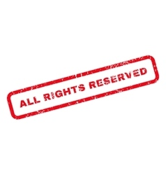 All Rights Reserved Text Rubber Stamp vector image