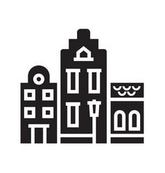 amsterdam houses logotype or emblem vector image