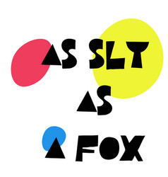 As sly as a fox stamp on white vector