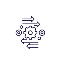 Automation and optimization line icon vector