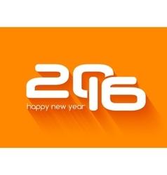 beautiful typography design happy new year 2016 vector image