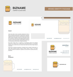 beer business letterhead envelope and visiting vector image