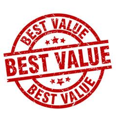 Best value round red grunge stamp vector