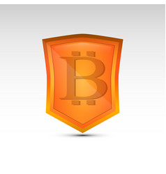 Bitcoin orange emblem vector