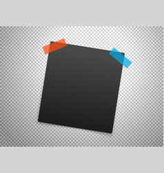 black frames isolated on transparent background vector image