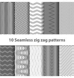 Black Seamless Chevron Patterns vector image