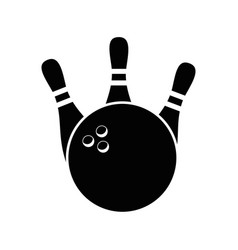 Bowling sport game vector