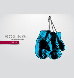boxing gloves silhouette vector image