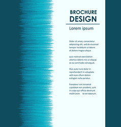 broshure design template vector image