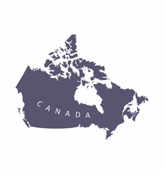 canada silhouette map vector image