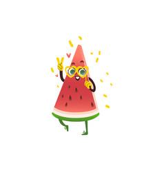 cartoon watermelon party character vector image
