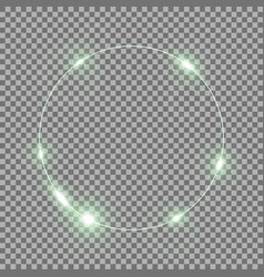 circle of light green color vector image