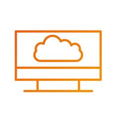 cloud computing storage digital communication vector image