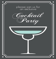cocktail party invitations1 vector image