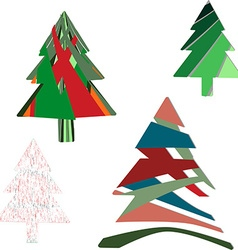 Colorful Christmas trees vector image