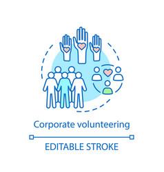 Corporate volunteering concept icon vector