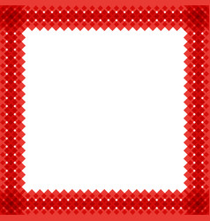 Cute christmas or new year border with red wicker vector