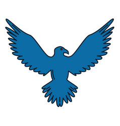 Eagle american symbol icon vector
