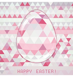 Easter egg pink crystall triangle greeting card vector image