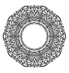 elegant hand drawn floral frame vector image