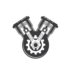 Engine piston icon design vector