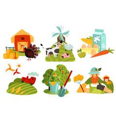 Farm design concept vector