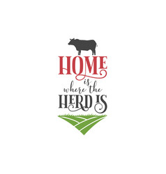 farm quote lettering typography vector image