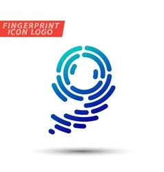 Fingerprint logo font 36 vector