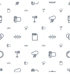 Flash icons pattern seamless white background vector
