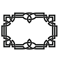Frame with celtic ornament vector