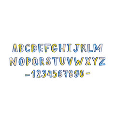 funky latin font or childish english alphabet vector image