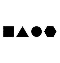 Geometric shapes grunge effect set vector