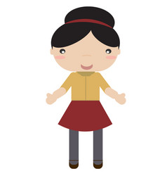 Girl in autumn vector