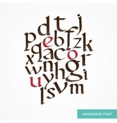 hand drawn medieval alphabet Old vector image