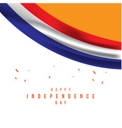 Happy netherlands independence day template design vector