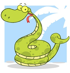 Happy Snake Cartoon Character vector image