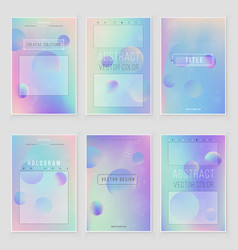 holographic paper magic foil marble cover set vector image